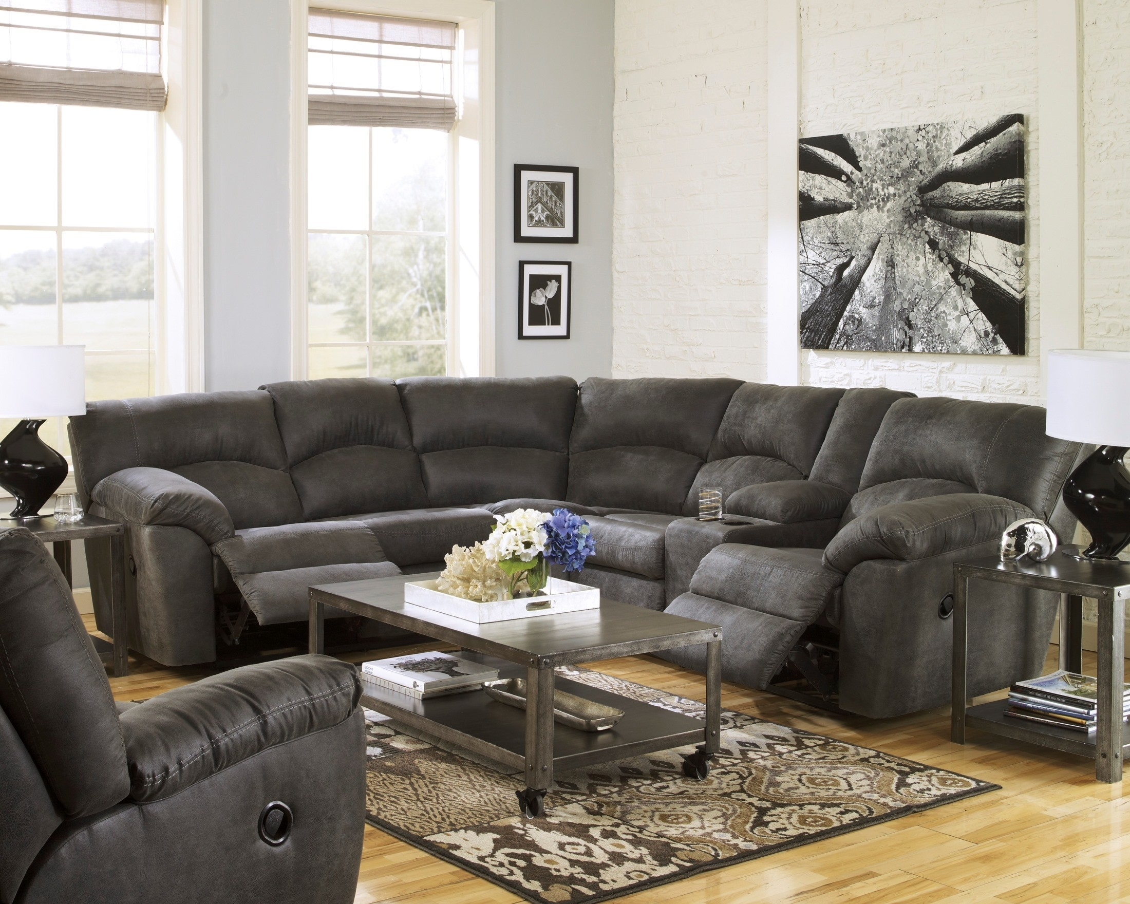 Reclining Sectionals – Coleman Furniture Regarding Denali Light Grey 6 Piece Reclining Sectionals With 2 Power Headrests (View 9 of 25)