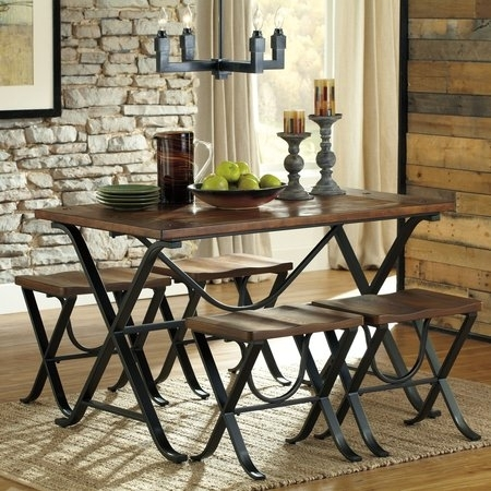 Rectangle Dining Table Set Home Design | Jadisdesignservices For Jaxon 6 Piece Rectangle Dining Sets With Bench & Wood Chairs (View 23 of 25)