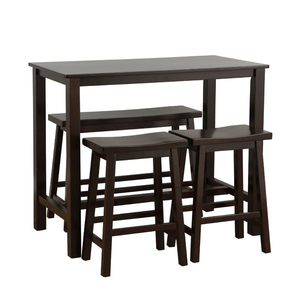 Rectangle Pub Tables & Bistro Sets You'll Love | Wayfair Inside Ina Matte Black 60 Inch Counter Tables With Frosted Glass (Image 17 of 25)