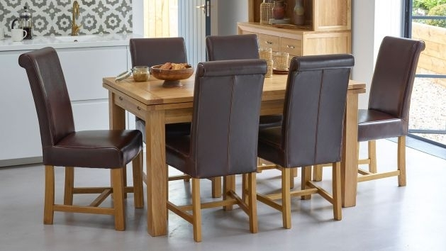 Rectangle Table And Chairs | 5Ft Dining Sets | Oak Furniture Land Within Oak Furniture Dining Sets (Image 17 of 25)