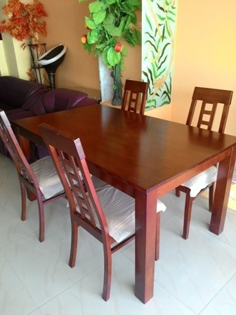 Rectangle Type 4 Seater Dining Table » Vinston Online With 4 Seat Dining Tables (Image 21 of 25)
