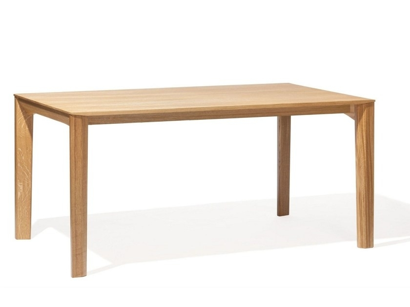 Rectangular English Oak Dining Table Trapezton Design Michael With Oak Dining Tables (View 24 of 25)