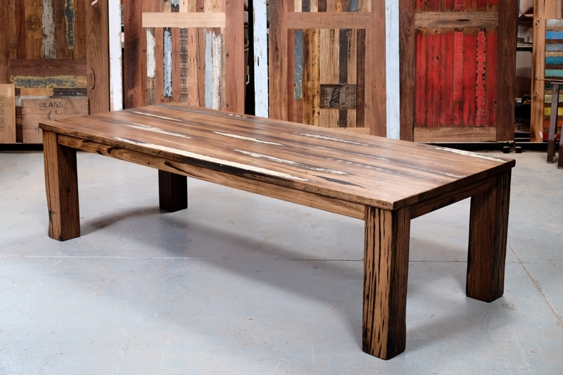 Recycled Timber Dining Tables & Outdoor Timber Furniture Melbourne Regarding Dining Tables With Large Legs (Image 23 of 25)