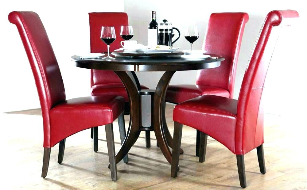 Red And Black Dining Room Sets Fantastic Red Dining Table Set Chairs With Regard To Red Dining Table Sets (View 15 of 25)