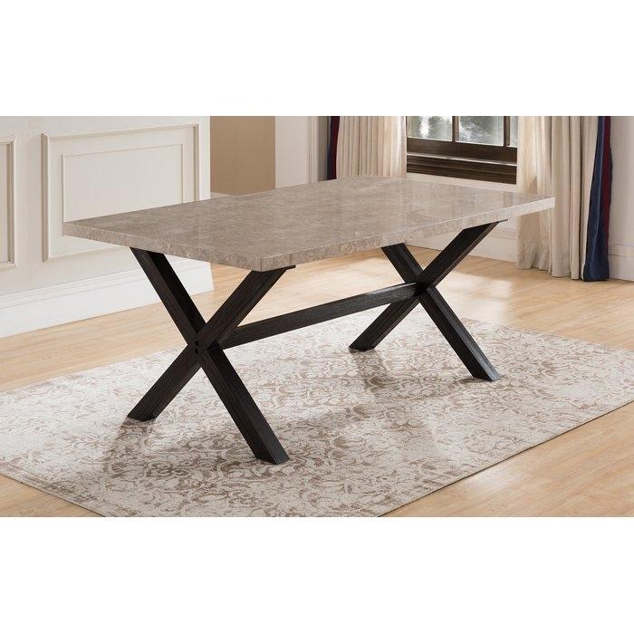 Red Barrel Studio Coleville Solid Marble Dining Table & Reviews In Solid Marble Dining Tables (View 11 of 25)