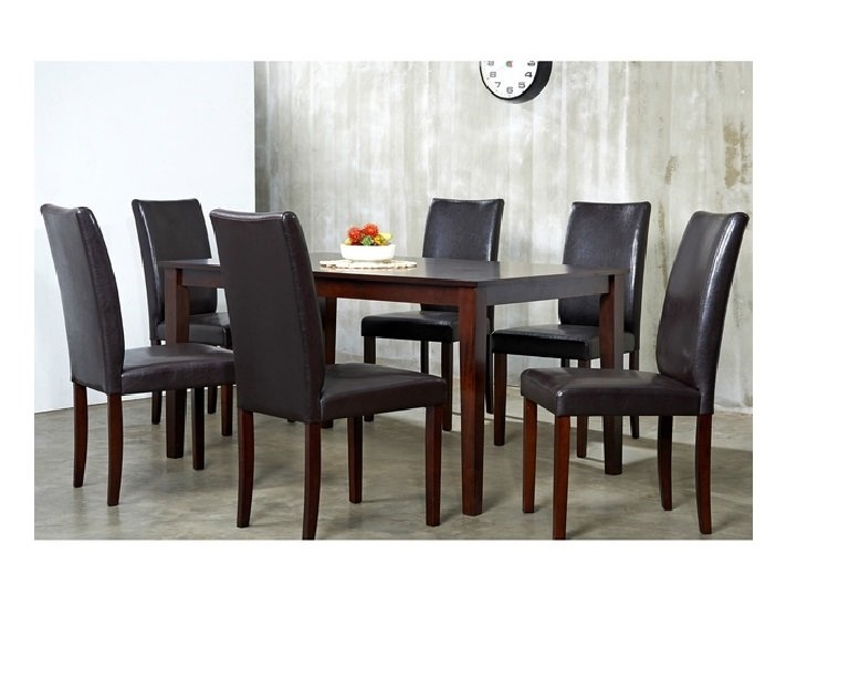 Red Barrel Studio Evendale 7 Piece Dining Set & Reviews | Wayfair For Chandler 7 Piece Extension Dining Sets With Fabric Side Chairs (Image 16 of 25)