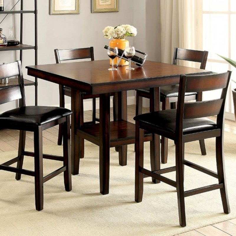 Red Barrel Studio Rj 5 Piece Counter Height Dining Set | Wayfair Regarding Candice Ii 5 Piece Round Dining Sets (View 6 of 25)