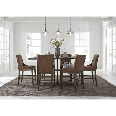 Red Barrel Studio Shiflett 5 Piece Dining Set & Reviews | Wayfair With Regard To Caira 7 Piece Rectangular Dining Sets With Diamond Back Side Chairs (View 19 of 25)