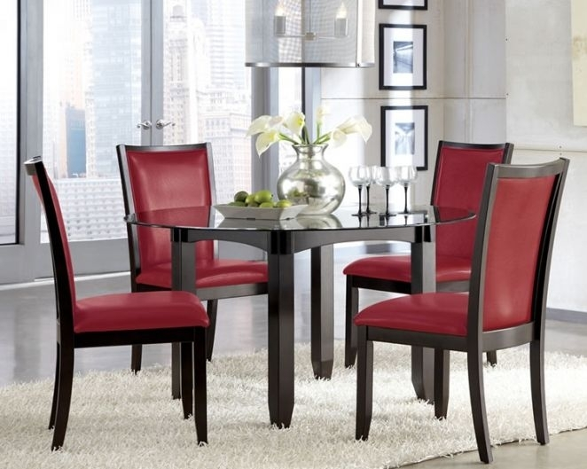 Red Dining Chairs: Red Dining Chairs G Chairs Entrancing Furniture Throughout Red Dining Table Sets (Image 12 of 25)