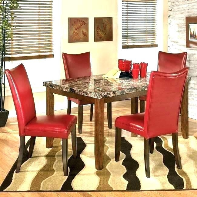 Red Dining Room Table And Chairs Small Dining Table With Chair Regarding Red Dining Table Sets (View 13 of 25)
