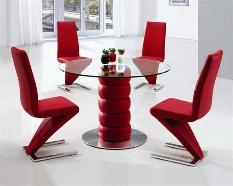 Red Dining Table Set – Castrophotos Pertaining To Red Dining Table Sets (Image 18 of 25)
