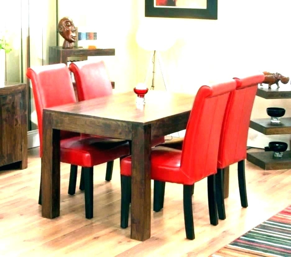 Red Dining Table Set – Kuchniauani For Red Dining Tables And Chairs (Image 21 of 25)