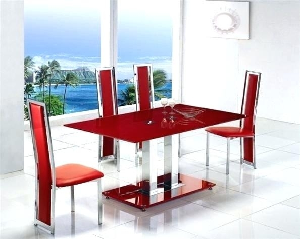 Red Dining Table Set Red Dining Chairs Drop Leaf Dining Table Piece Within Red Dining Table Sets (Image 20 of 25)