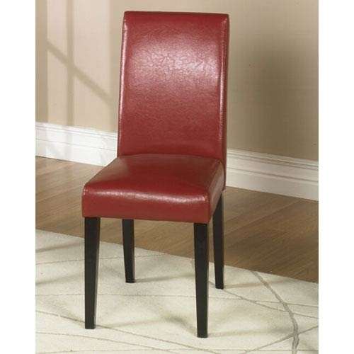 Red Leather Dining Chairs | Bellacor Inside Red Leather Dining Chairs (Image 17 of 25)