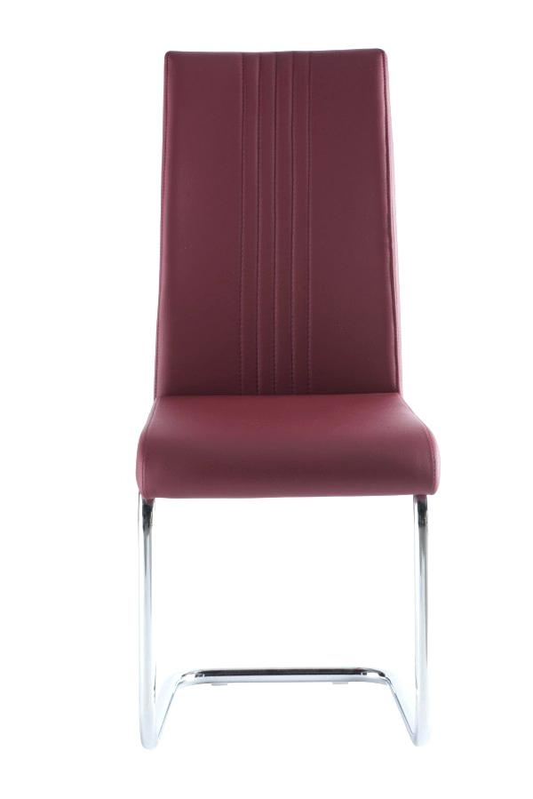 Red Leather Dining Chairs Red Leather Dining Chairs Ebay – Crit Within Dining Chairs Ebay (Image 22 of 25)
