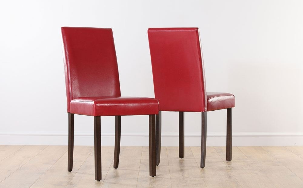 Red Leather Dining Room Chairs | Dining Chairs Design Ideas & Dining Inside Red Leather Dining Chairs (View 17 of 25)