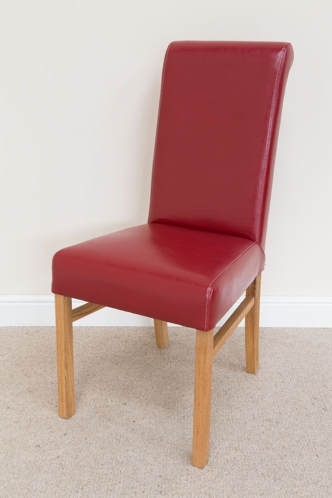 Red Leather Emperor Dining Room Chair From Top Furniture In Red Leather Dining Chairs (View 18 of 25)