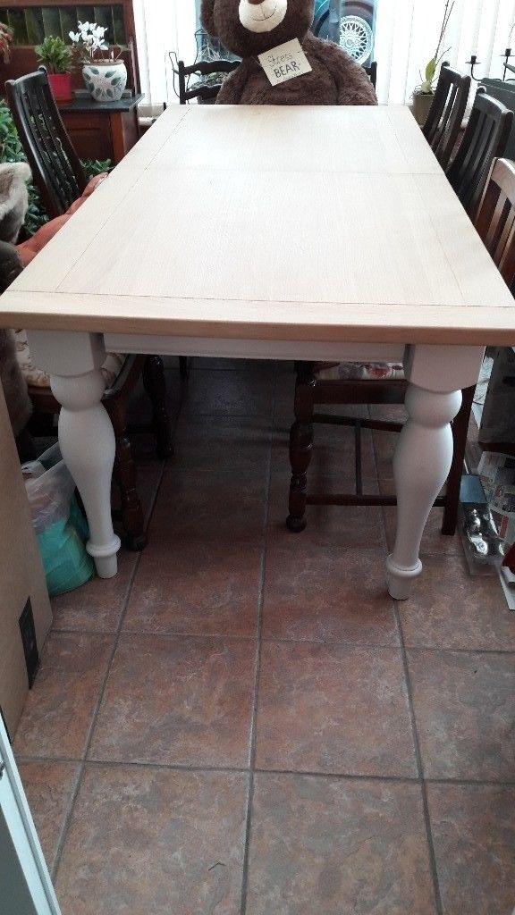 Reduced Next Shaftesbury Ivory Painted 6 8 Seater Dining Table Inside Ivory Painted Dining Tables (View 18 of 25)