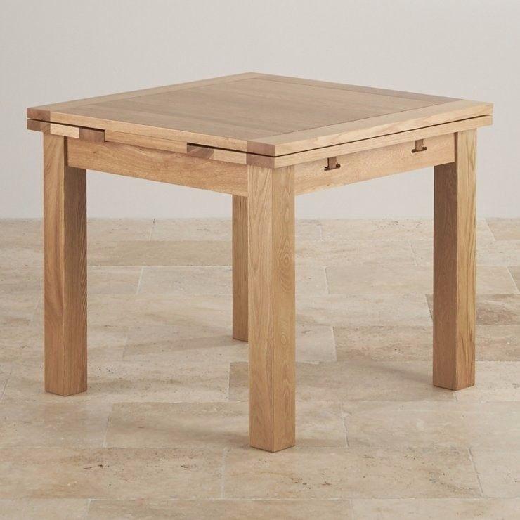 Reduced! Oak Furniture Land 3Ft Square Extendable Dining Table | In Intended For Square Extendable Dining Tables (Image 13 of 25)