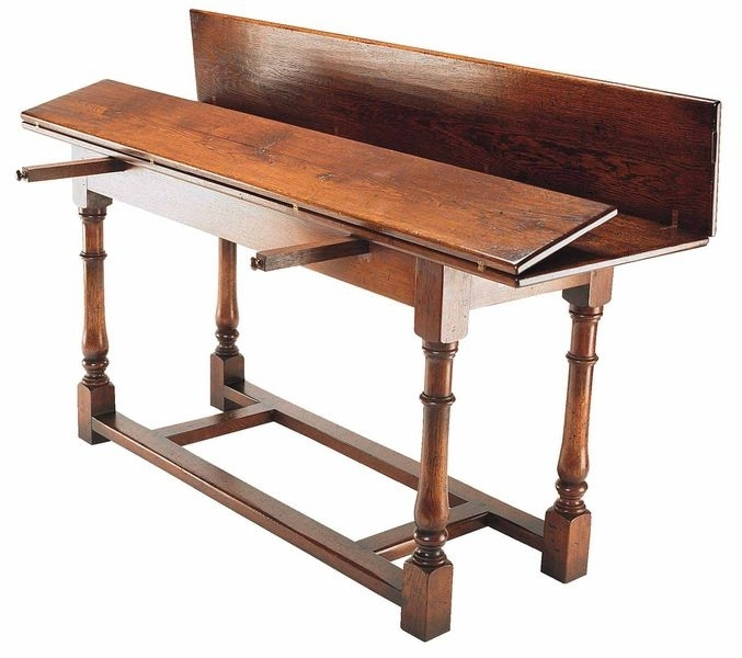 Refectory Console Table – Dining Tables Pertaining To Large Folding Dining Tables (Image 20 of 25)
