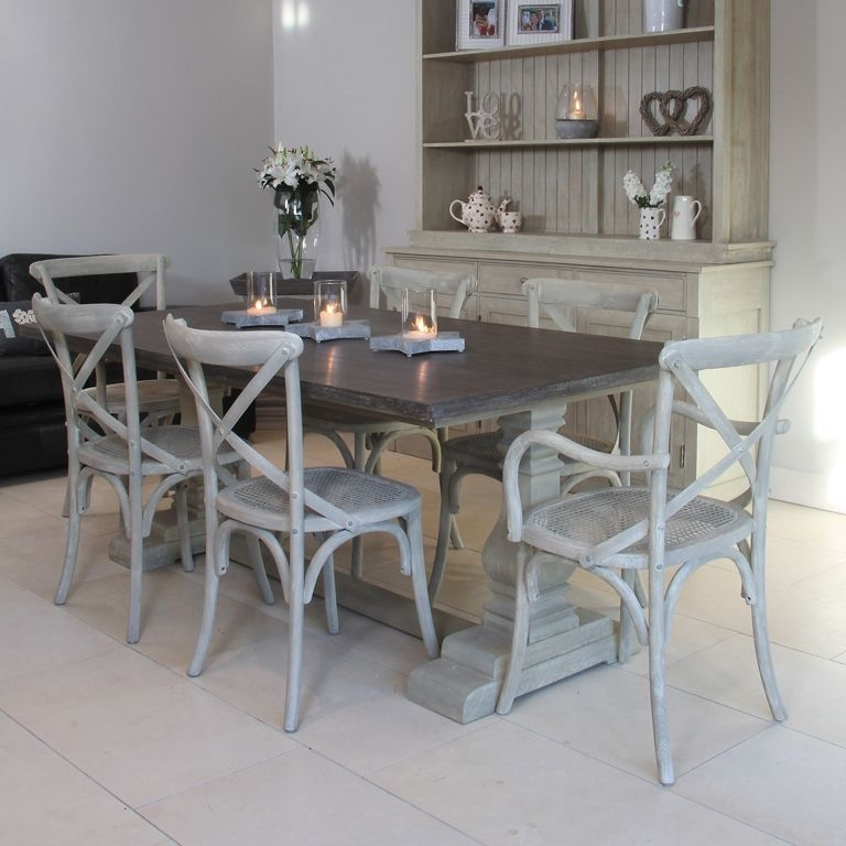 Refectory Style Table With Cross Back Chairs Available From Throughout Cork Dining Tables (Image 18 of 25)