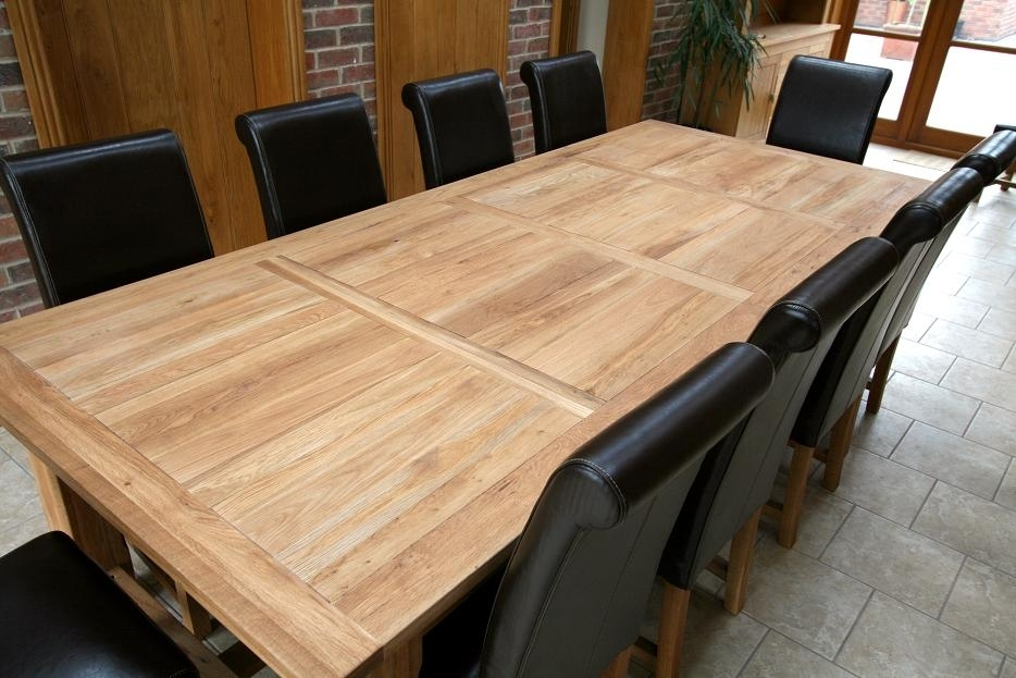 Refectory Tables | Refectory Oak Dining Table | Large Dining Tables With Solid Oak Dining Tables (Image 20 of 25)