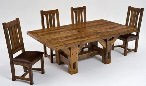 Refined Rustic Dining Table #4 – Urdezign Lugar Inside Rustic Dining Tables (View 19 of 25)