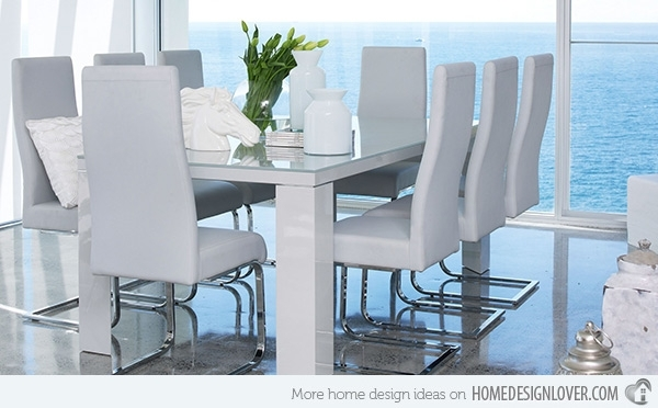 Refreshingly Neat 15 White Dining Sets   Home Design Lover Throughout White Dining Suites (Image 22 of 25)