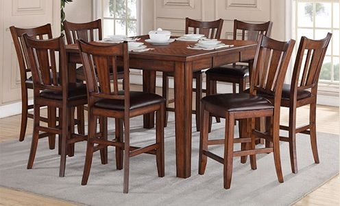 Regal Living Chandler 9 Piece Counter Height Dining Set | Decorating Within Helms 7 Piece Rectangle Dining Sets With Side Chairs (View 7 of 25)
