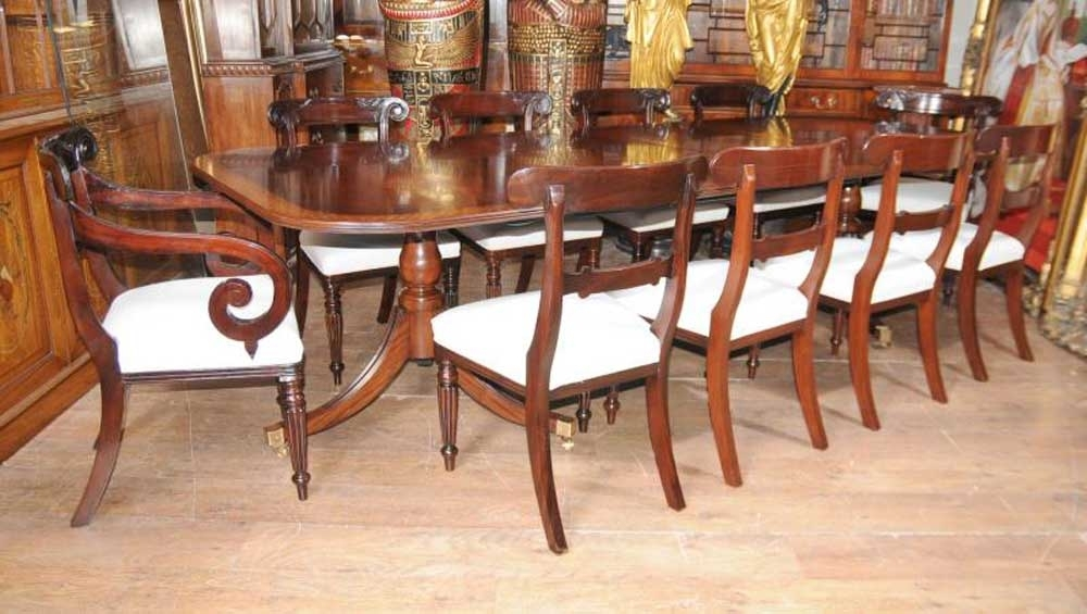 Regency Mahogany Dining Set William Iv Chairs Table Suite For Mahogany Dining Tables And 4 Chairs (View 3 of 25)