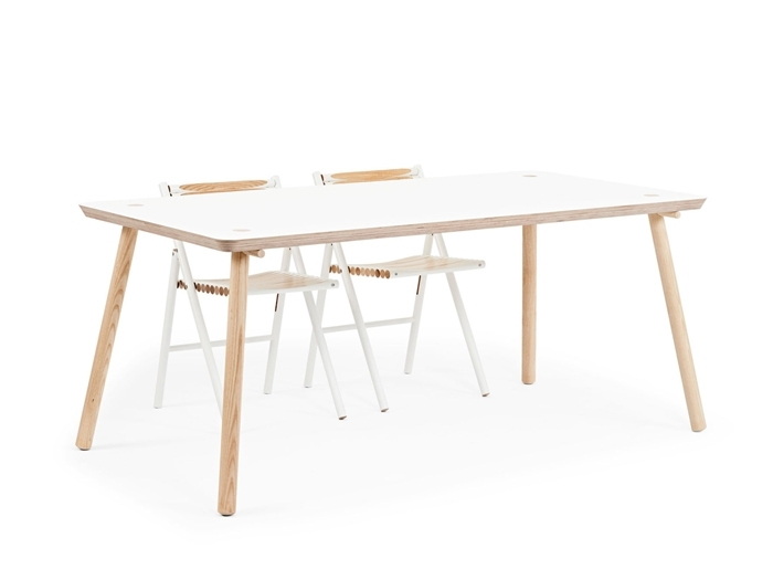 Reinier De Jong Designs Minimalist Stip Table Made From Birch Within Birch Dining Tables (Image 19 of 25)