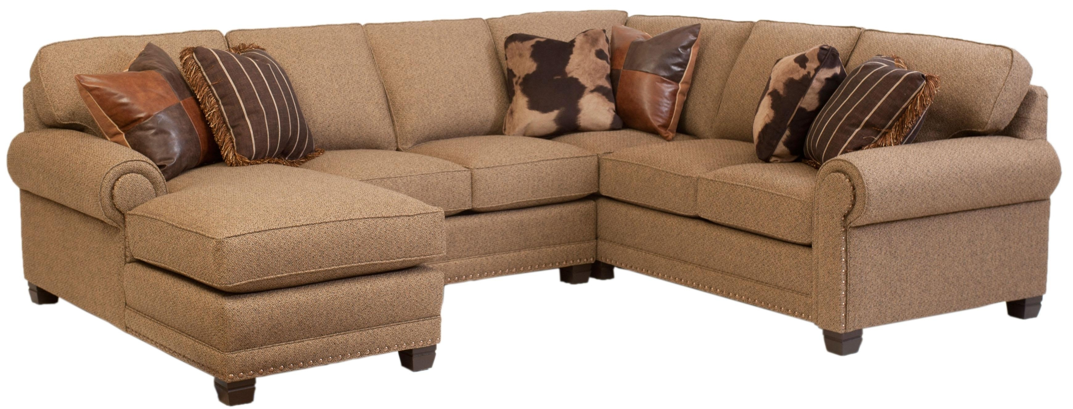 Remarkable 3 Piece Leather Sectional Sofa With Chaise 48 For in Gordon 3 Piece Sectionals With Raf Chaise