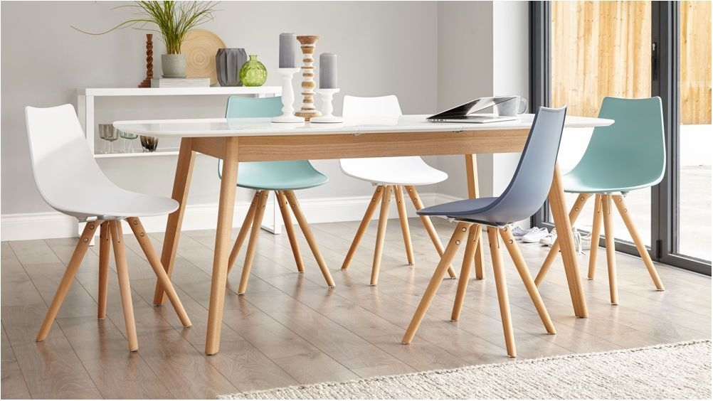 Remarkable Modern White Oak Dining Table Glass Legs Seats 6 8 Pertaining To 8 Seater Oak Dining Tables (View 18 of 25)