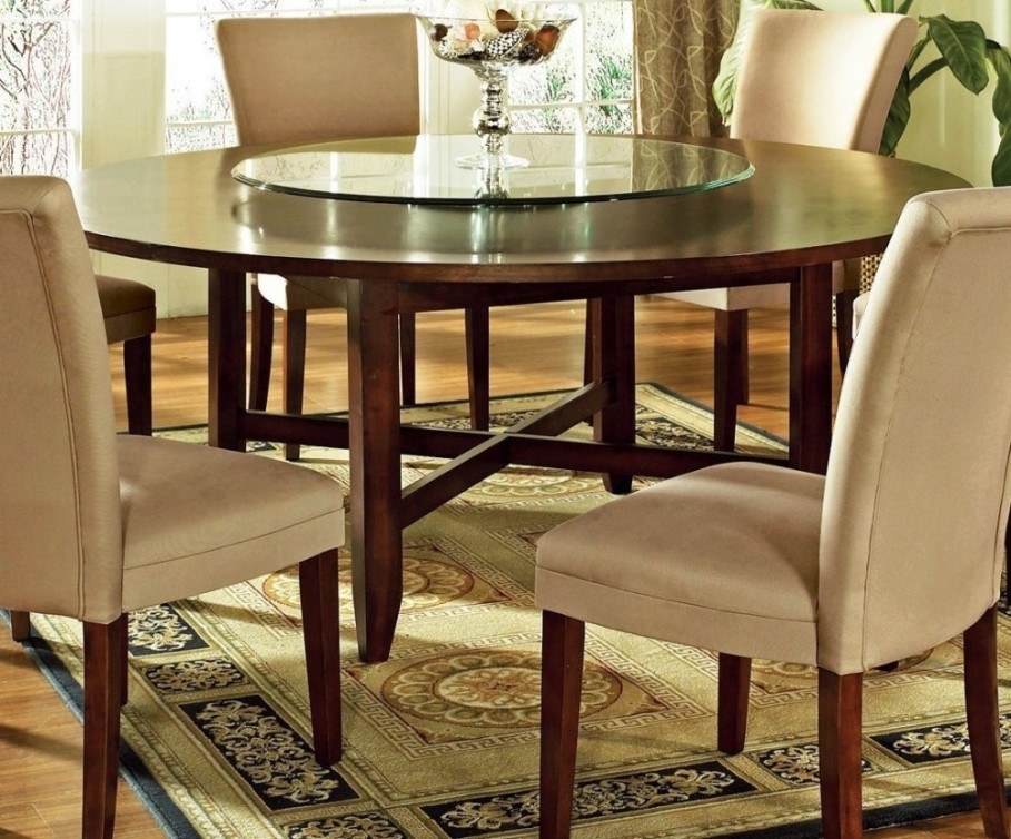 Remarkable Traditional Round Glass Dining Table Round Kitchen Table In Glass Dining Tables And 6 Chairs (View 23 of 25)