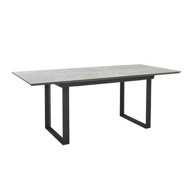 Reno Ceramic Marble Extending Dining Table Grey | Kitchens Pertaining To Extending Marble Dining Tables (Image 19 of 25)