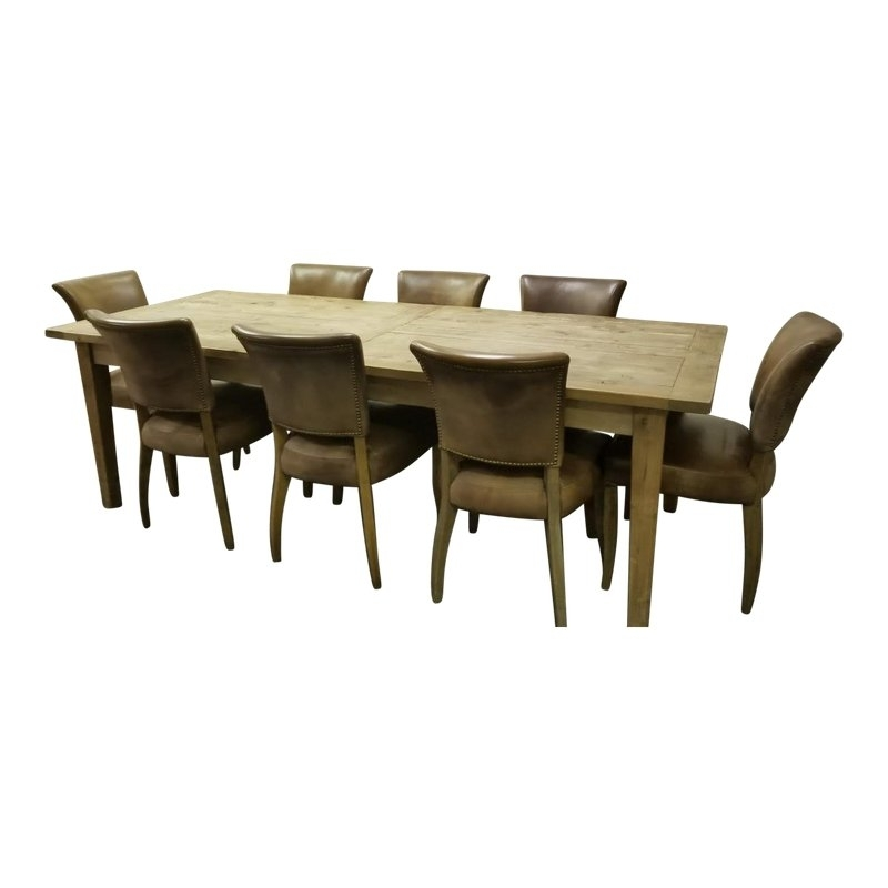 Restoration Hardware Dining Set – 9 Pieces In 2018 | Products For Norwood 7 Piece Rectangular Extension Dining Sets With Bench, Host & Side Chairs (Image 23 of 25)