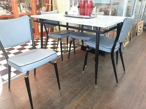 "Retro 50S 60S Dining Table And Chairs | Ebay | ""vintage Table For Ebay Dining Suites (Image 22 of 25)"