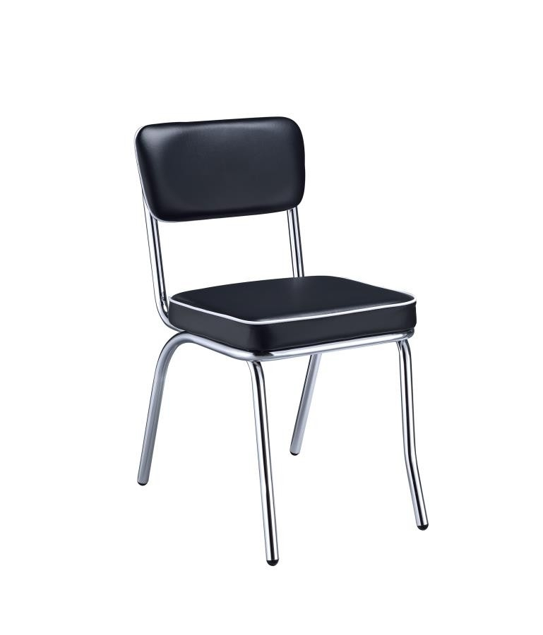 Retro Collection – Retro Collection Chrome Dining Chair (Pack Of 2 Intended For Chrome Dining Chairs (Image 19 of 25)