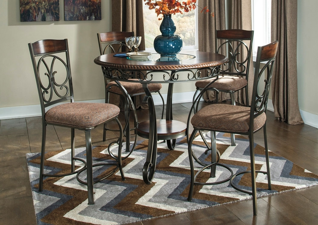 Rice Furniture & Appliance Glambrey Round Counter Height Table W/4 Pertaining To Jaxon 5 Piece Round Dining Sets With Upholstered Chairs (Image 17 of 25)