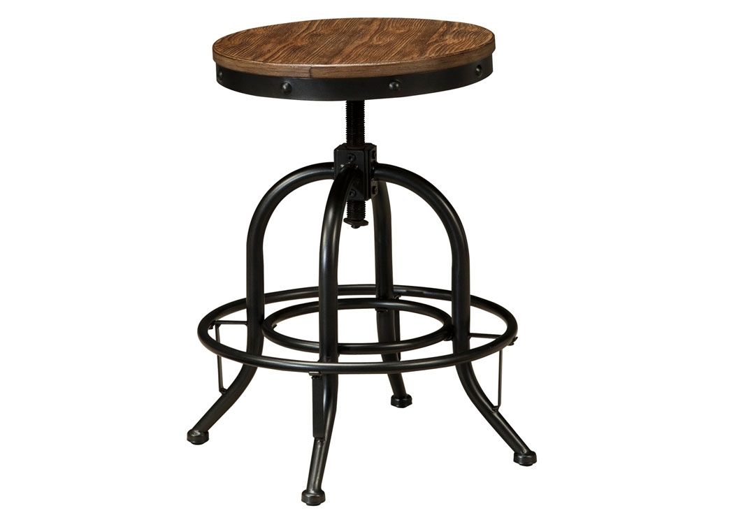 Rice Furniture & Appliance Pinnadel Light Brown Swivel Stool (Set Of 2) For Jaxon 5 Piece Extension Counter Sets With Fabric Stools (View 24 of 25)