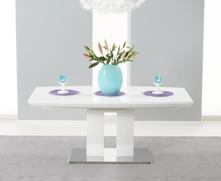 Richmond 180Cm White High Gloss Extending Dining Table Inside Extending White Gloss Dining Tables (Image 18 of 25)