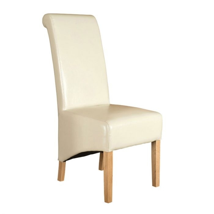Richmond Ivory Leather Dining Chair With Ivory Leather Dining Chairs (Image 23 of 25)