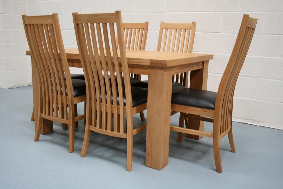 Riga Oak Dining Sets | Cheap Dining Room Furniture Throughout Cheap Dining Tables (Image 22 of 25)