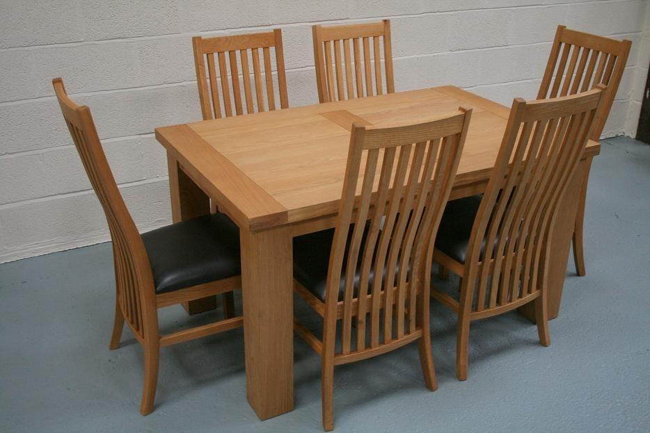 Riga Oak Dining Sets | Cheap Dining Room Furniture With Oak Furniture Dining Sets (View 3 of 25)