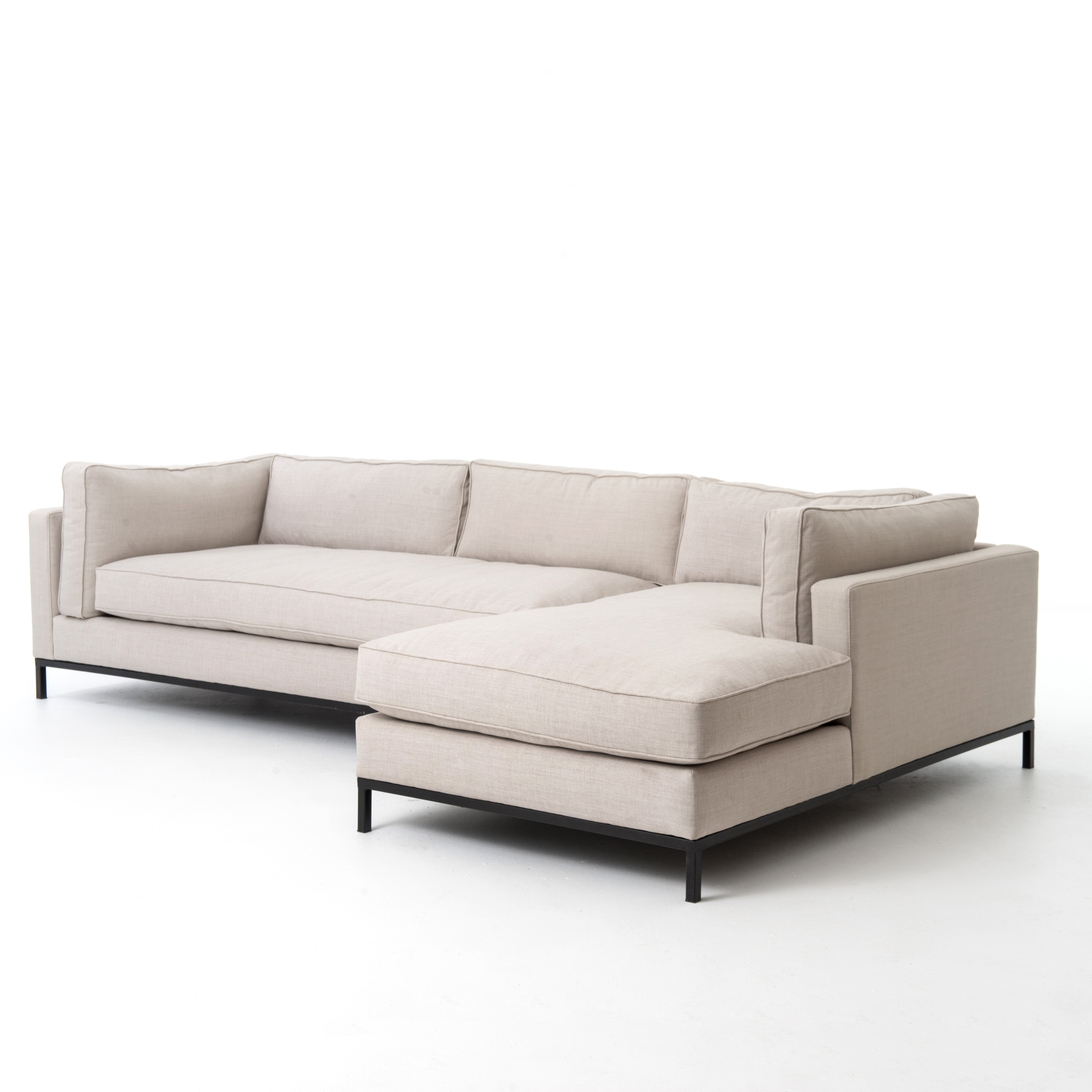 Right Arm Chaise Sectional – Grammercy Sectional – Piece + Palette With Evan 2 Piece Sectionals With Raf Chaise (Image 23 of 25)