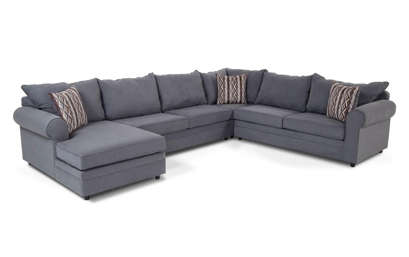 Right Arm Facing Chaise Sofa | Baci Living Room With Benton 4 Piece Sectionals (Image 17 of 25)
