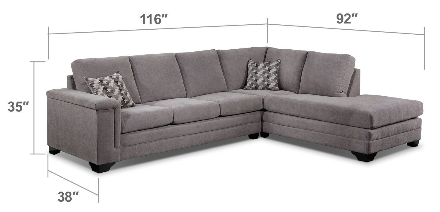 Right Facing Sectional Jobs Oat 2 Piece With Chaise Living Spaces Inside Jobs Oat 2 Piece Sectionals With Left Facing Chaise (View 11 of 25)