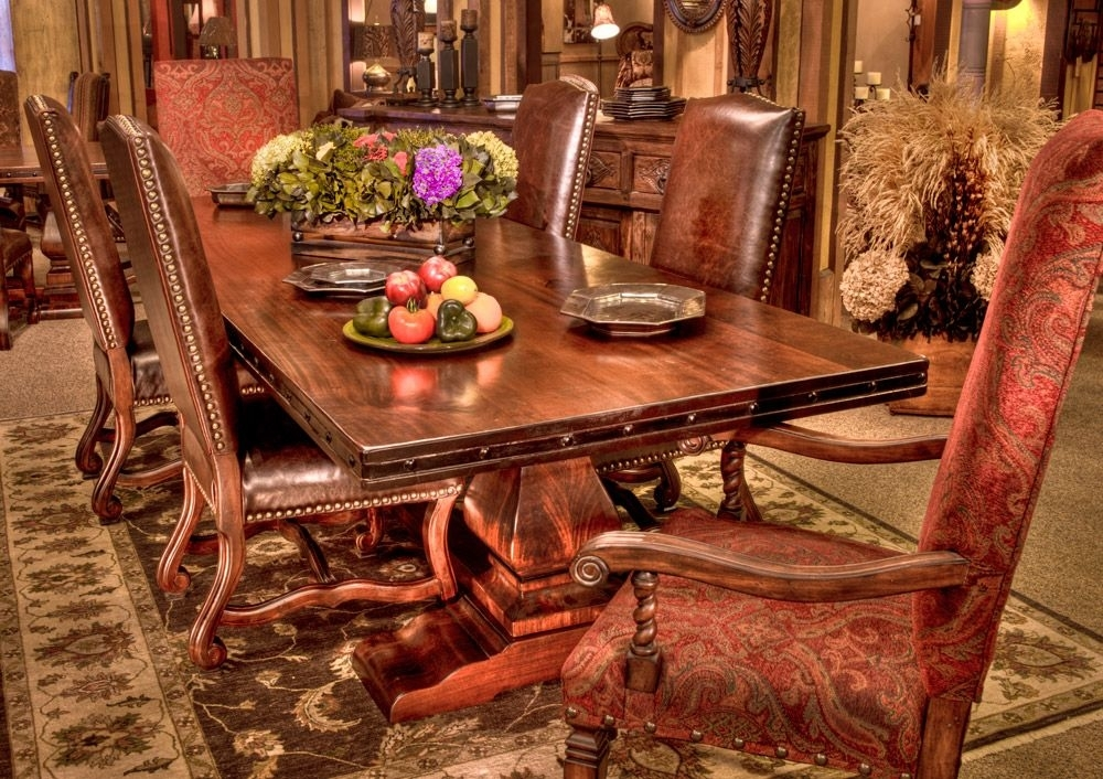 Rio Grande Dining Table: Beautiful And Solid Wood Is This Trestle Inside Rio Dining Tables (Image 19 of 25)