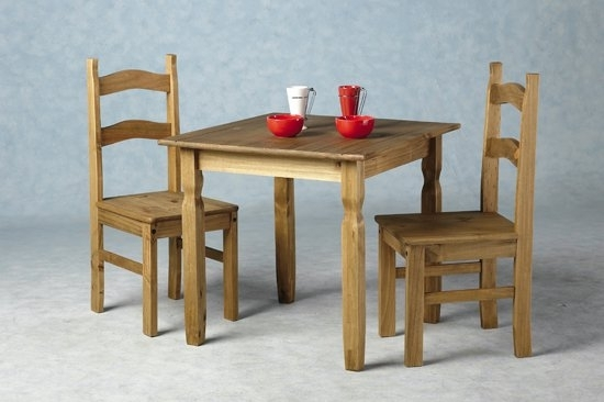 Rio Wooden Dining Table With 2 Chairs 8711 Furniture In With Regard To Rio Dining Tables (View 3 of 25)