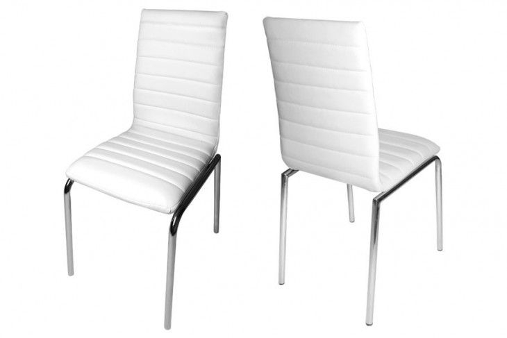 Ripple Faux Leather Dining Chairs | Design Ideas | Pinterest Throughout White Leather Dining Chairs (View 13 of 25)